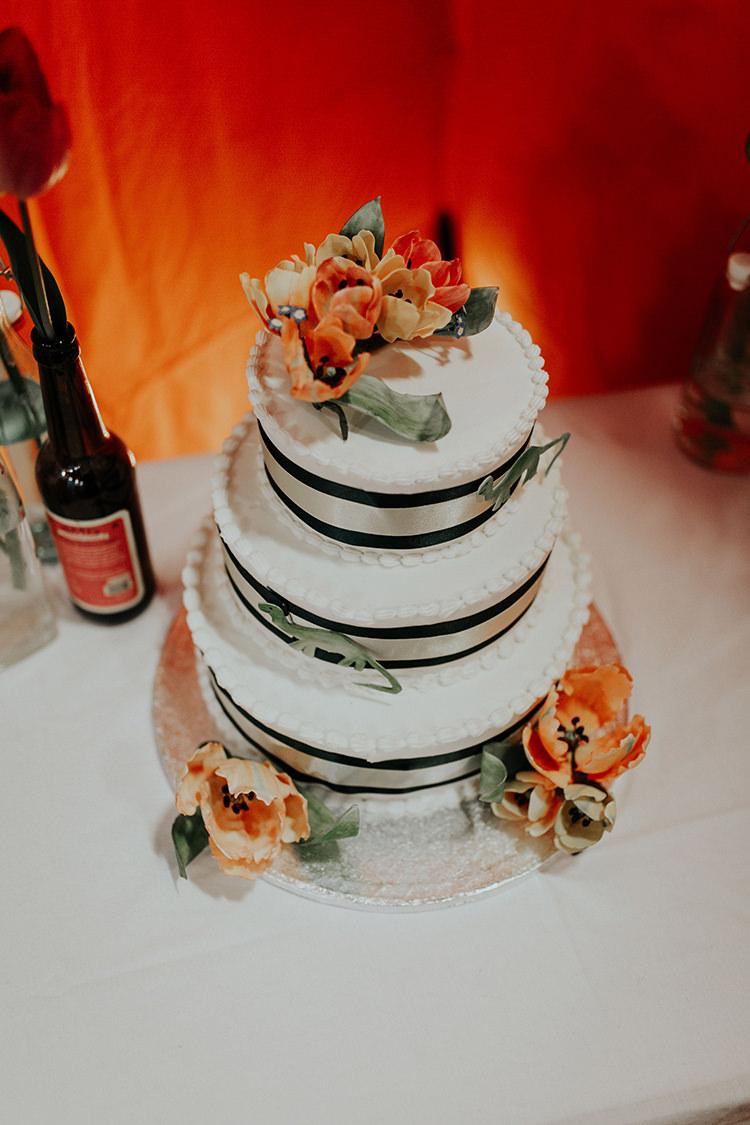 Dinosaur Cake Orange Green All The Colours Quirky Dinosaur Wedding https://leahlombardi.com/