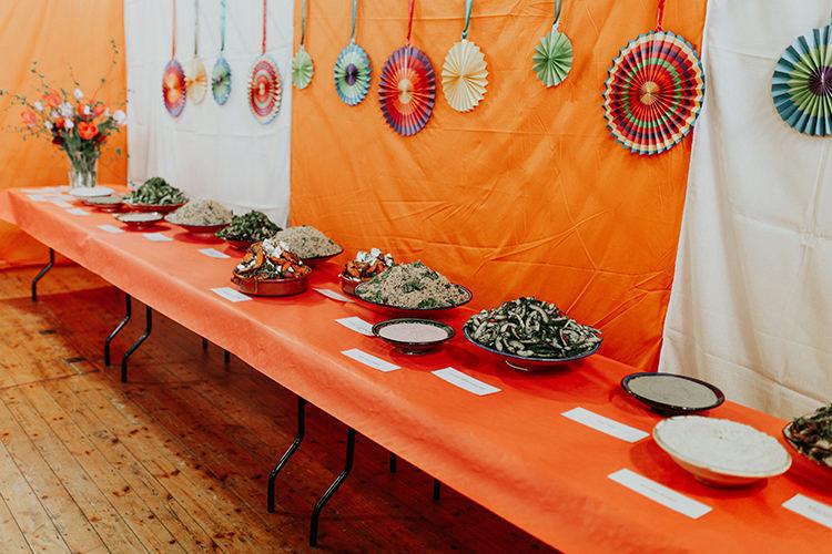 Pinwheels Backdrop Wall Fabric All The Colours Quirky Dinosaur Wedding https://leahlombardi.com/