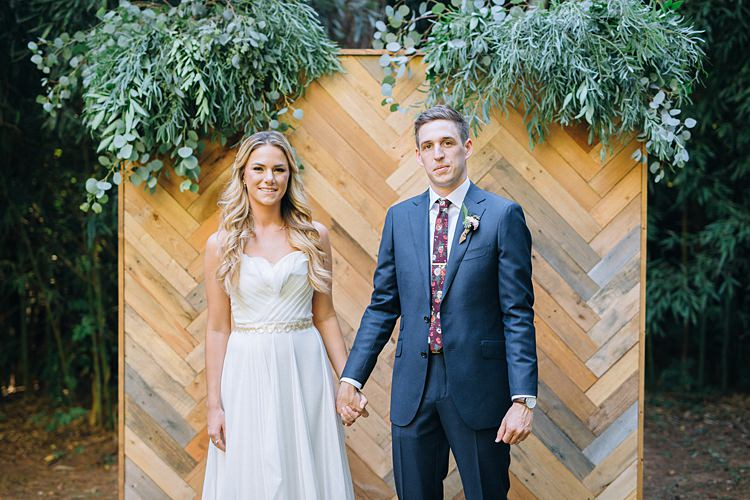 Bride Groom Holding Hands Bohemian Outdoor Greenery Wedding Georgia http://www.sowingclover.com/