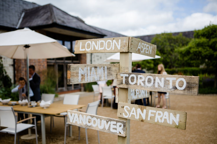 Wood Sign Signpost Destination DIY Handmade Pretty Relaxed Lavender Country Wedding http://www.lydiastampsphotography.com/