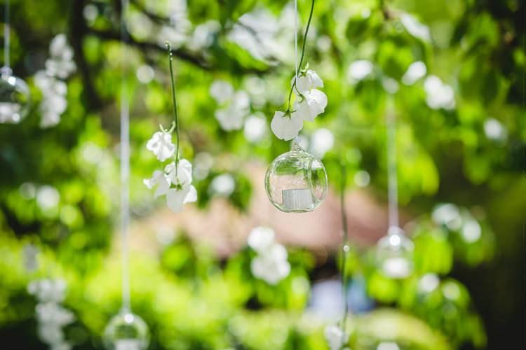 Hanging Tea Lights Trees Garden of Hygge Wedding Ideas http://www.sophieduckworthphotography.com/
