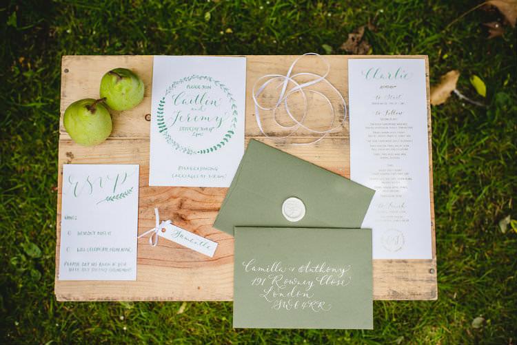Calligraphy Stationery Invitation Invite Envelope Wax Seal Garden of Hygge Wedding Ideas http://www.sophieduckworthphotography.com/