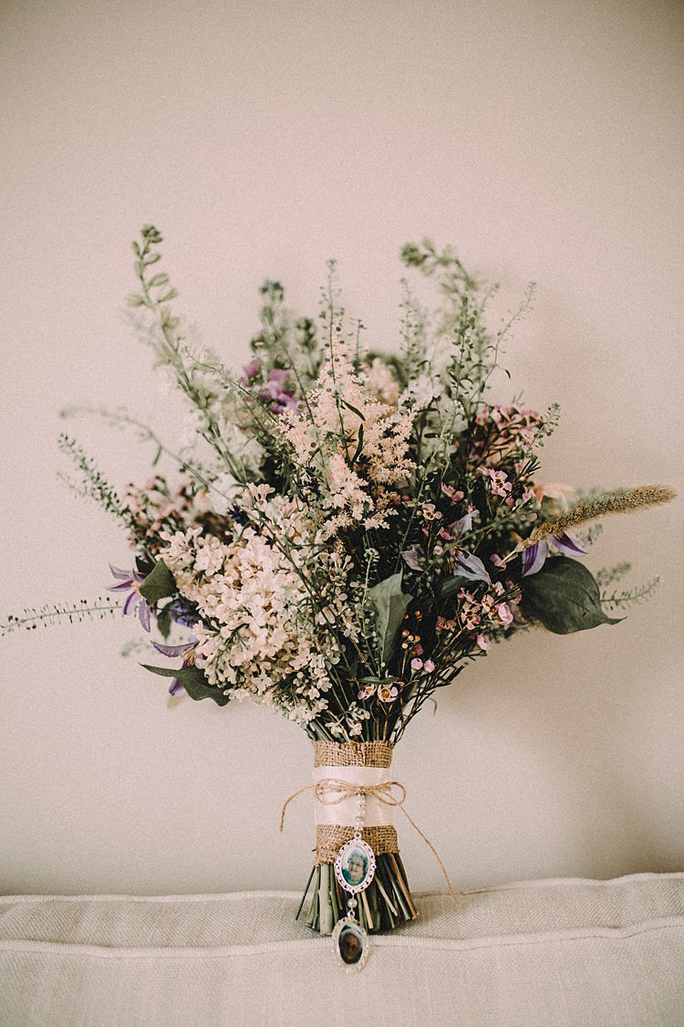 Bouquet Dried Flowers Astilbe Hessian Twine Bride Bridal Woodland Lavender Spring Country Wedding http://www.carlablainphotography.co.uk/