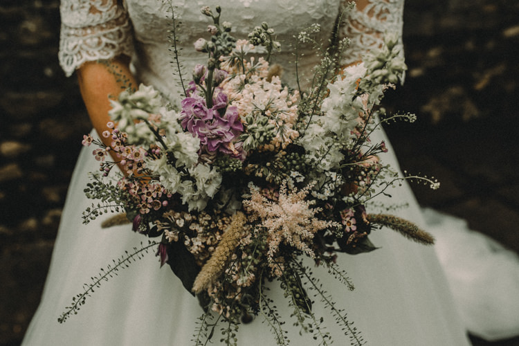 Bouquet Flowers Bride Bridal Astilbe Stocks Woodland Lavender Spring Country Wedding http://www.carlablainphotography.co.uk/
