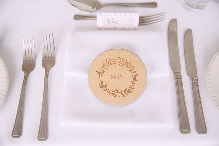 Wooden Coaster Place Mat Favour Romantic Soft Pastel Pretty Wedding http://hayleybaxterphotography.com/