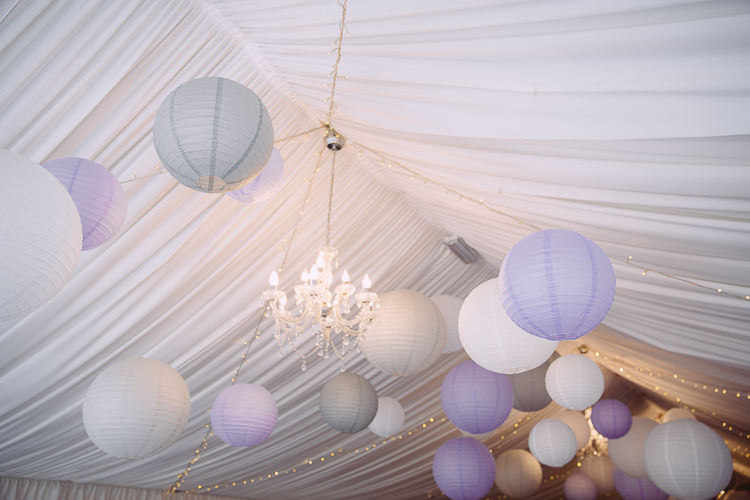 Grey Purple Lanterns Marquee Romantic Soft Pastel Pretty Wedding http://hayleybaxterphotography.com/