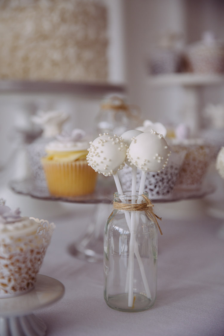 Cream Cake Pops Milk Bottle Romantic Soft Pastel Pretty Wedding http://hayleybaxterphotography.com/