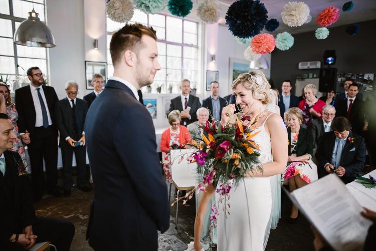 Café Brockwell Ceremony City Laid Back Local London Lido Wedding http://andrewbrannanphotography.co.uk/