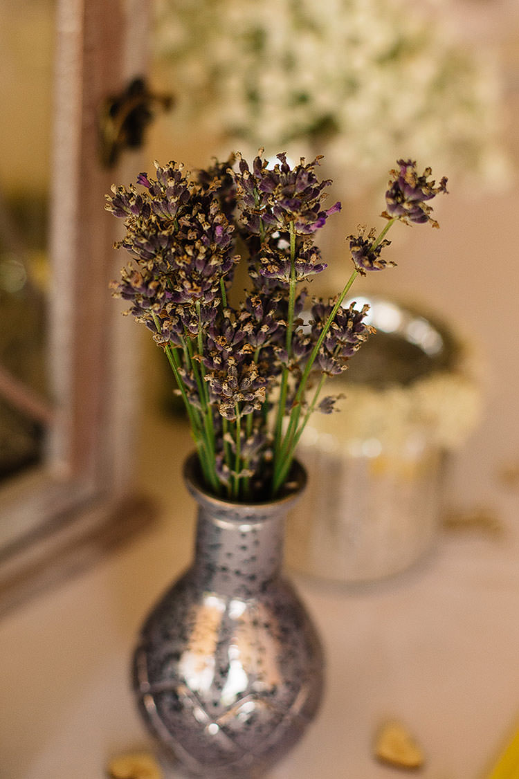 Lavender Vase Flowers Charming Natural Countryside Tipi Wedding http://www.pauljosephphotography.co.uk/