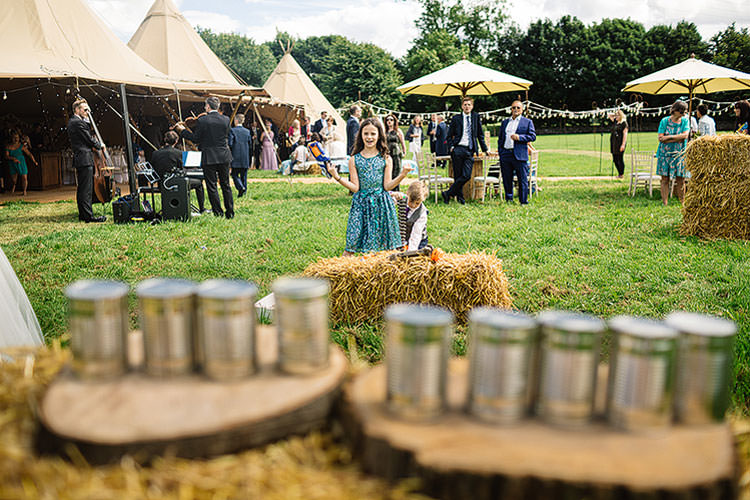 Fete Games Charming Natural Countryside Tipi Wedding http://www.pauljosephphotography.co.uk/