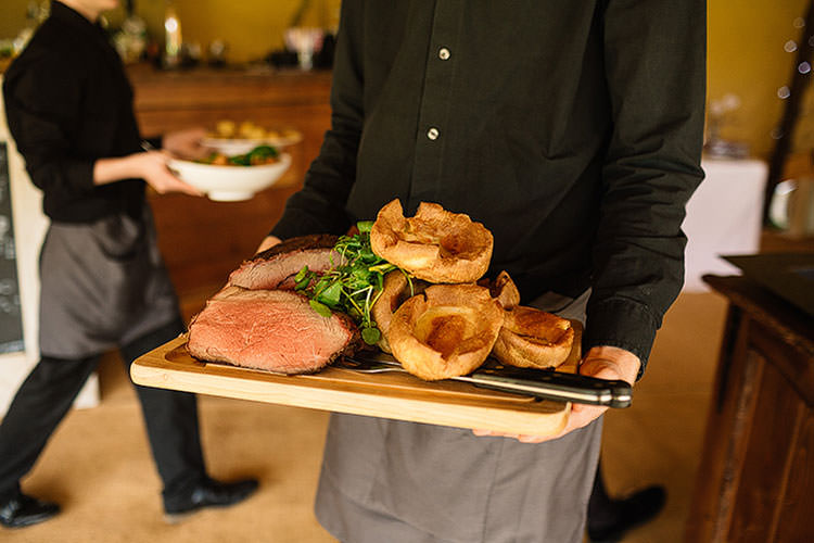 Roast Beef Food Dinner Charming Natural Countryside Tipi Wedding http://www.pauljosephphotography.co.uk/