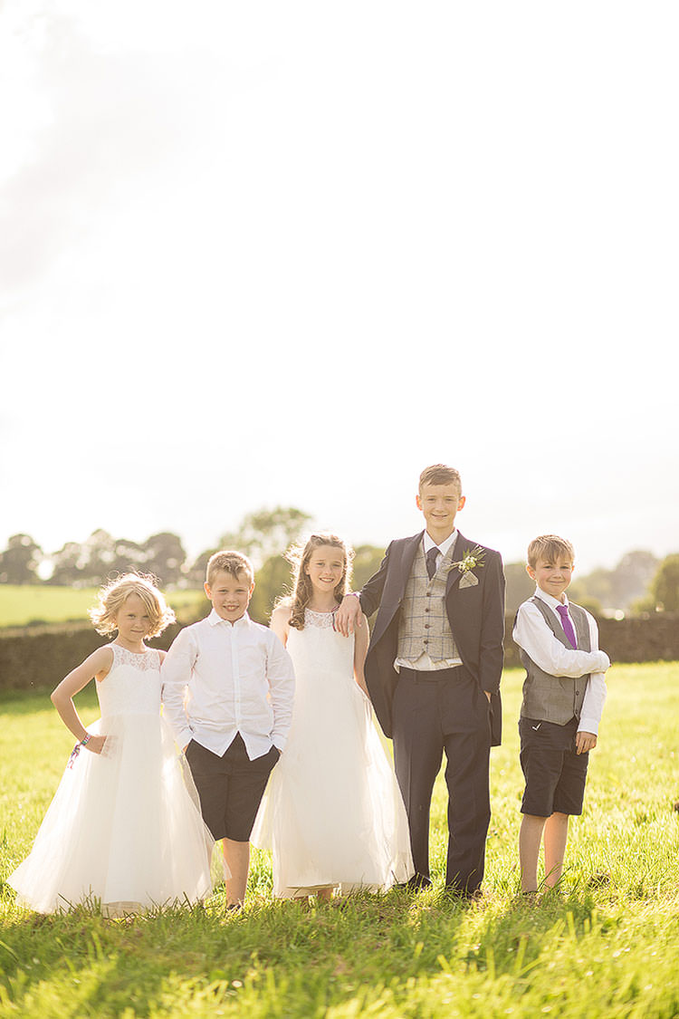 Flower Girls Page Boys Charming Natural Countryside Tipi Wedding http://www.pauljosephphotography.co.uk/