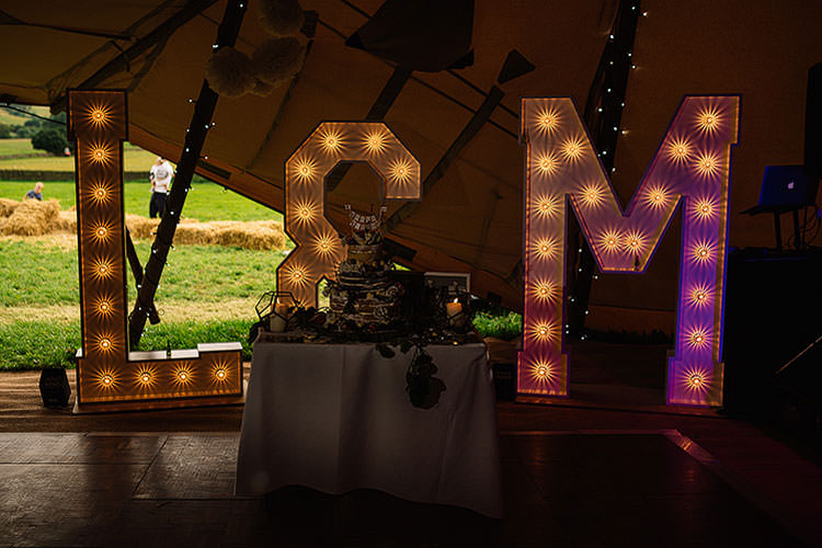 Light Up Letters Charming Natural Countryside Tipi Wedding http://www.pauljosephphotography.co.uk/