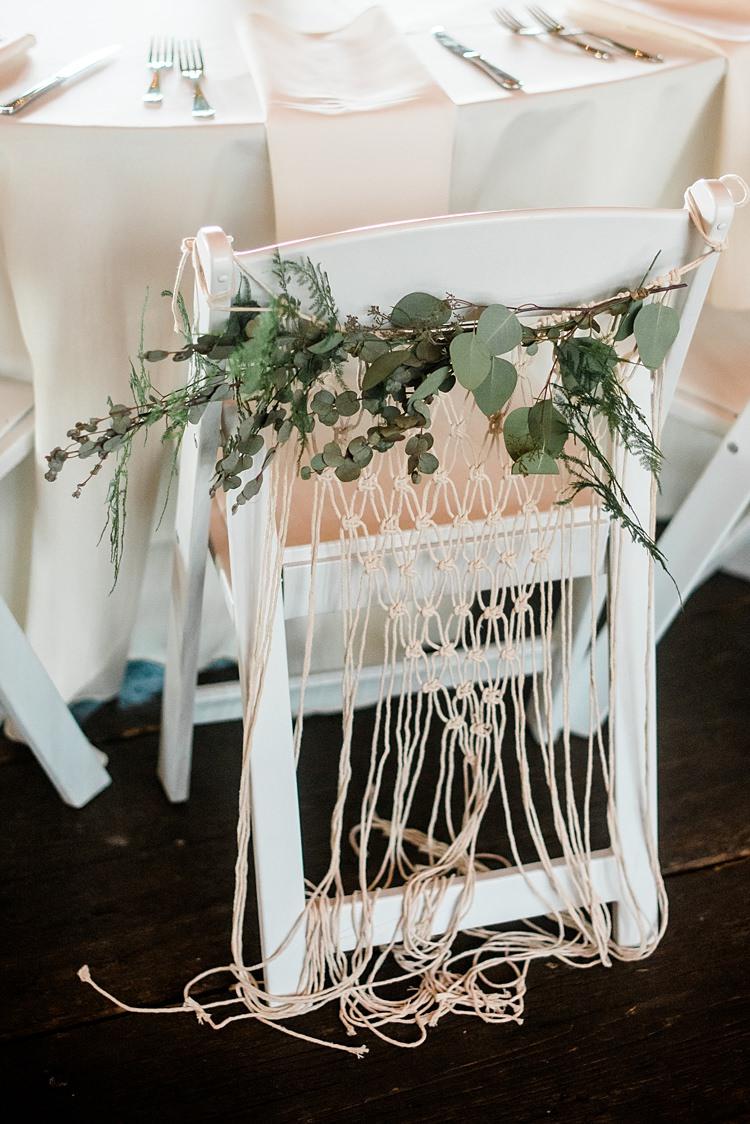 Chair Decoration Colourful Bohemian Barn Wedding Pennsylvania http://www.dawn-derbyshire.com/