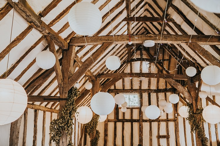 White Lanterns Fairy Lights Decor Burgundy Blush Minimal Elegant Barn Wedding http://www.rosshurley.com/
