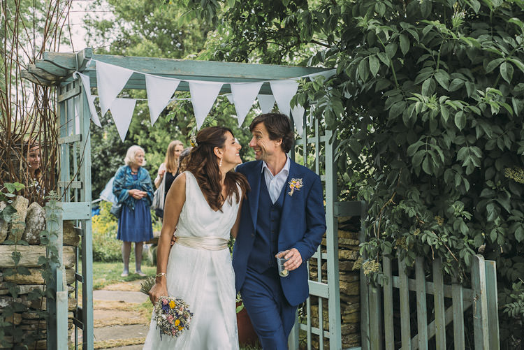 Bride Bridal Dress Sash Overlay Sleeveless Charlie Brear Gown Reiss Groom Bunting Fun Laid Back DIY Rustic Marquee Wedding http://www.louisegriffinphotography.com/