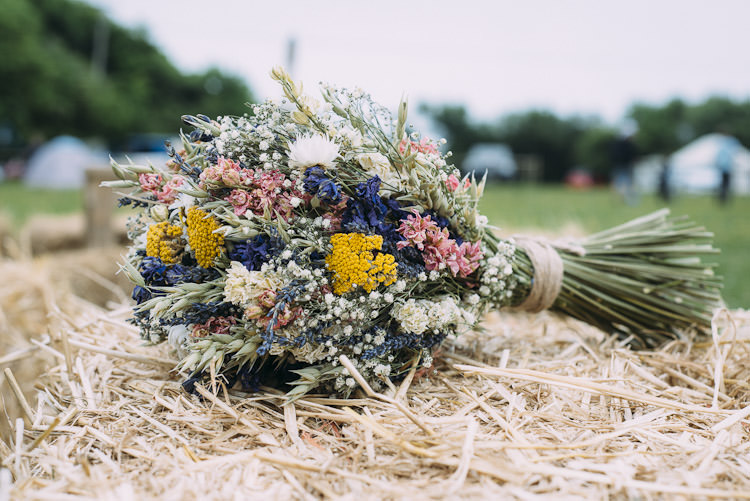 Dried Flowers Bouquet Wheat Fun Laid Back DIY Rustic Marquee Wedding http://www.louisegriffinphotography.com/