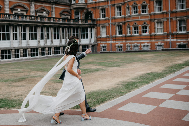 David Fielden Dress Gown Bride Bridal Ethereal Boho Fun Loving University Wedding http://andrewbrannanphotography.co.uk/