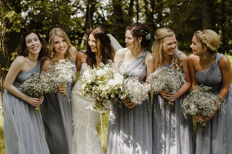 Gypsophila Bouquets Flowers Bridesmaids Nostalgic Playful Greenery Floral Garden Wedding http://jesspetrie.com/