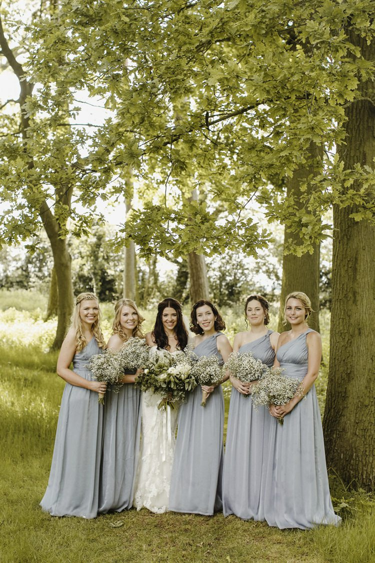 Long Maxi Grey Bridesmaid Dresses Gyp Gypsophila Baby Breath Nostalgic Playful Greenery Floral Garden Wedding http://jesspetrie.com/