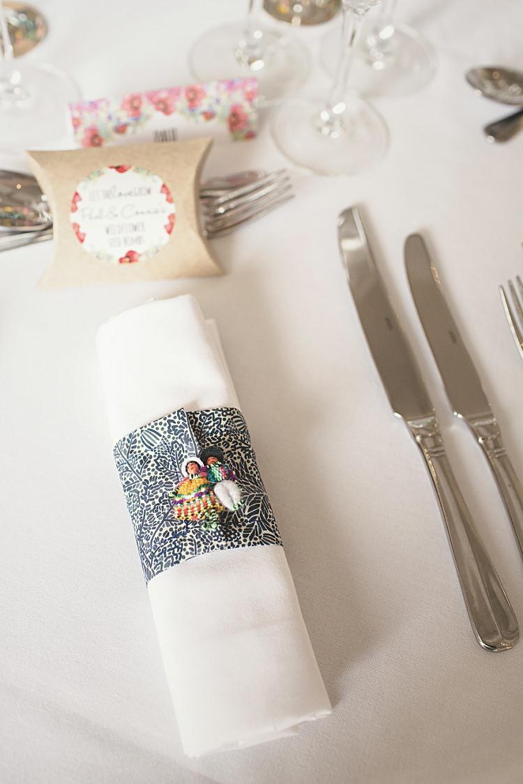 Libert Print Fabric Napkin Rings Colourful Home Made Vintage City Wedding http://kat-hill.com/