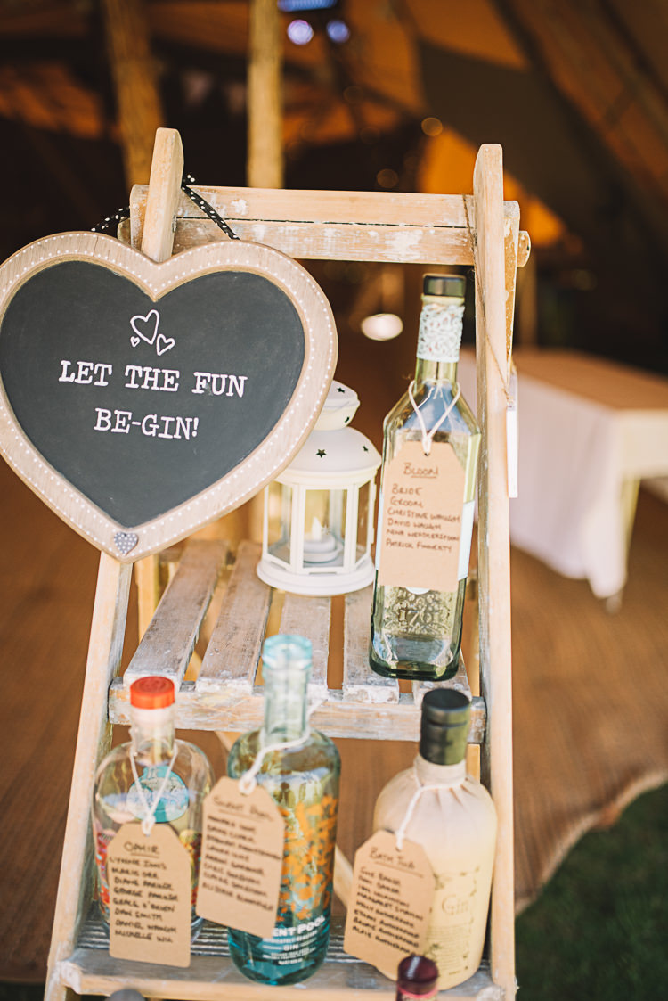 Gin Seating Plan Table Chart Ladder Decor Rustic Boho Summer Tipi Wedding https://www.luciewatsonphotography.com/