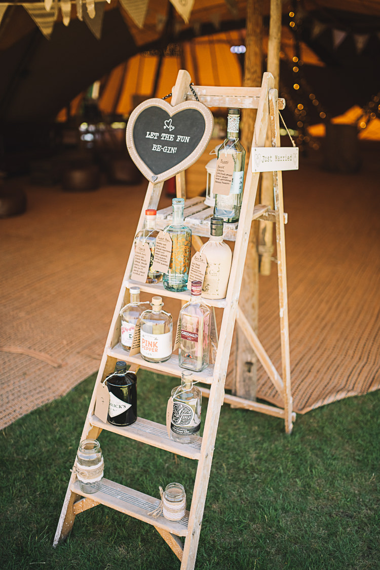 Gin Seating Plan Table Chart Ladder Decor Sign Rustic Boho Summer Tipi Wedding https://www.luciewatsonphotography.com/
