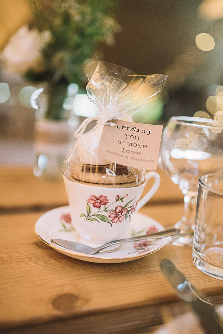 Smores Favours Tea Cup Rustic Boho Summer Tipi Wedding https://www.luciewatsonphotography.com/