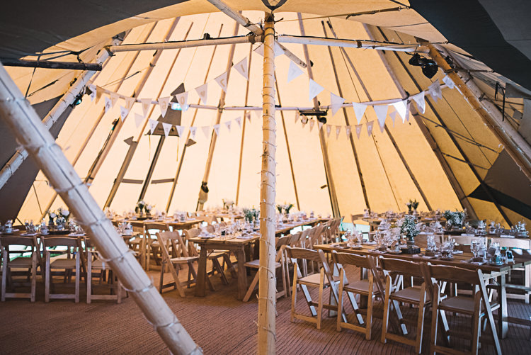Bunting Decor Rustic Boho Summer Tipi Wedding https://www.luciewatsonphotography.com/