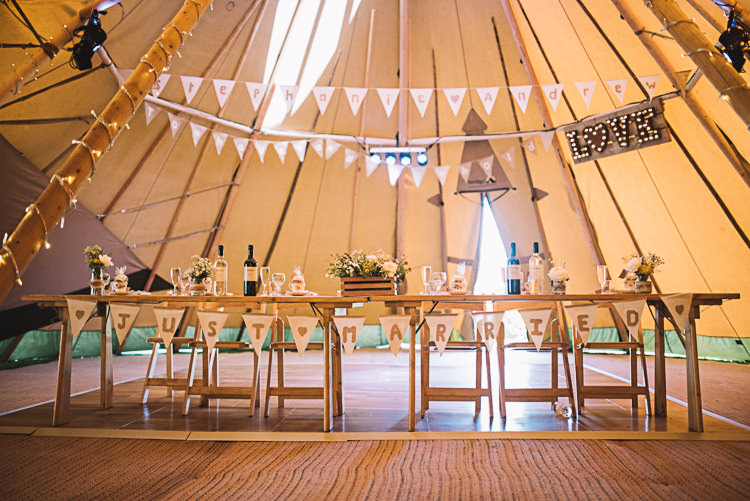 Top Table Decor Rustic Boho Summer Tipi Wedding https://www.luciewatsonphotography.com/
