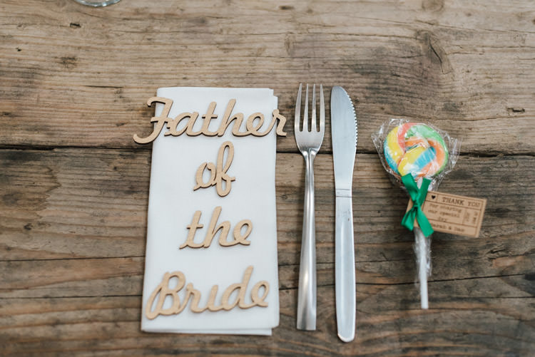 Laser Cut Wooden Place Name Setting Card Whimsical Wedding Sea Rustic Barn http://sugarbirdphoto.co.uk/
