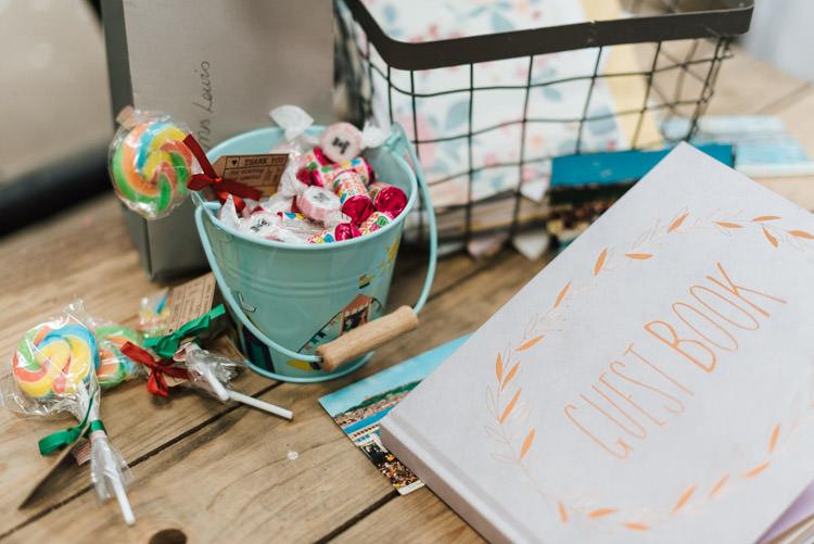 Guest Book Whimsical Wedding Sea Rustic Barn http://sugarbirdphoto.co.uk/