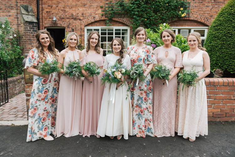 Floral Pink Mismatched Bridesmaid Dresses Long Maxi Whimsical Wedding Sea Rustic Barn http://sugarbirdphoto.co.uk/