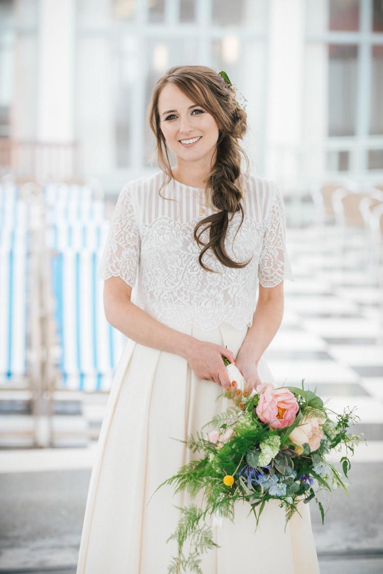 Katya Katya Shehurina Bride Bridal Top Skirt Separates Dress Gown Whimsical Wedding Sea Rustic Barn http://sugarbirdphoto.co.uk/