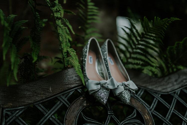 Silver Glitter Shoes Pumps Bride Bridal Enchanting Cornflower Blue Marquee Wedding https://burfly.co.uk/