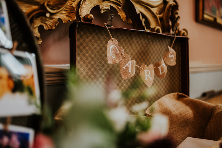 Card Suitcase Enchanting Cornflower Blue Marquee Wedding https://burfly.co.uk/