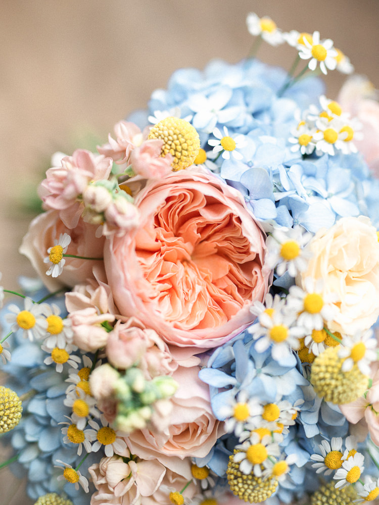 Blush Pink Wedding Flowers Bouquets David Austin Rose http://stephanieswannweddings.co.uk/