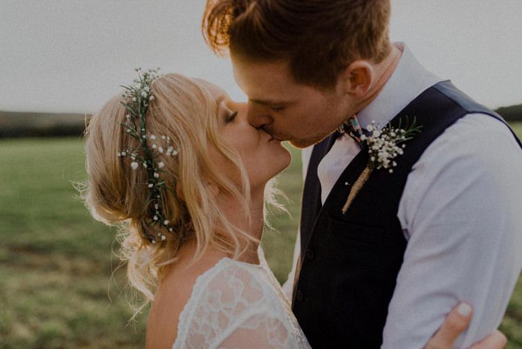 Flower Crown Bride Bridal Dreamy Natural Boho Barn Wedding https://heychrisrandle.com