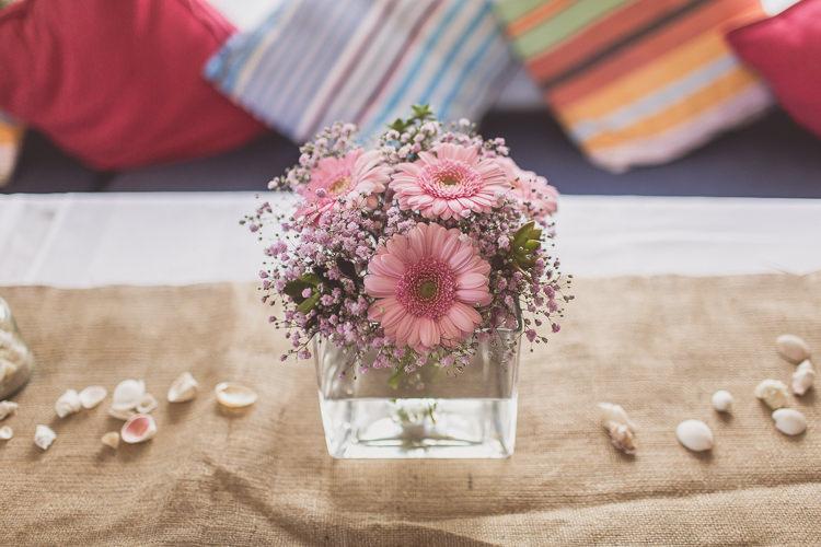 Blush Pink Wedding Flowers Bouquets Spray Germini http://www.wearetheclarkes.com/
