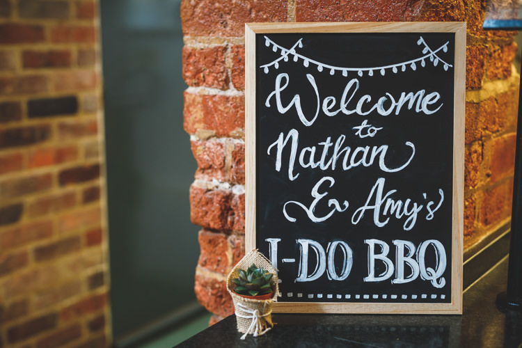Welcome Chalk Board Sign Rustic Barn Red Gold Glam Wedding https://garethnewsteadphotography.com/