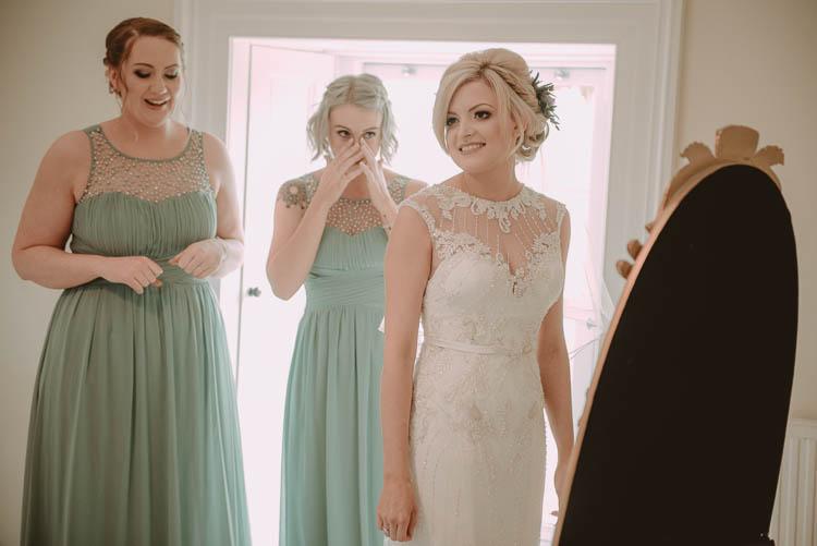 Lace Embellised Dress Gown Sheer Sweetheart Bride Bridal Whimsical Modern Rustic Barn Wedding http://photomagician.co.uk/