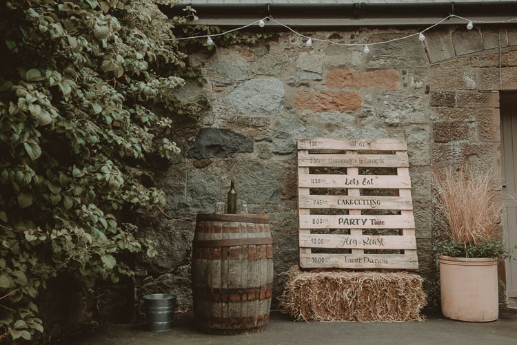 Wooden Pallet Sign Order Day Whimsical Modern Rustic Barn Wedding http://photomagician.co.uk/