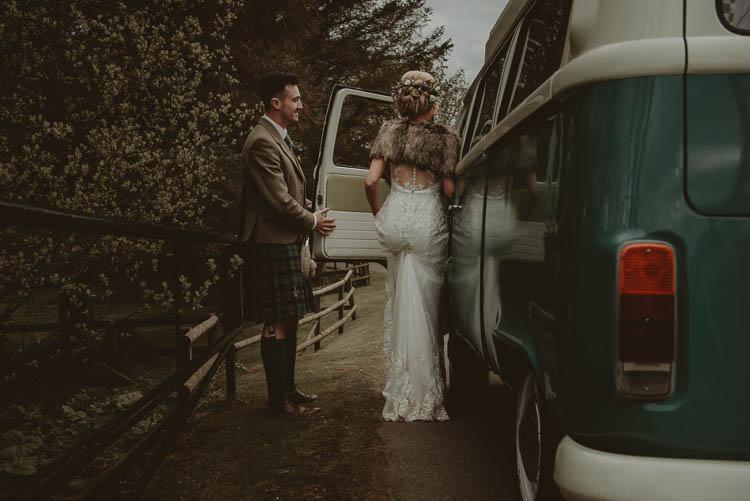 Campervan Transport Whimsical Modern Rustic Barn Wedding http://photomagician.co.uk/