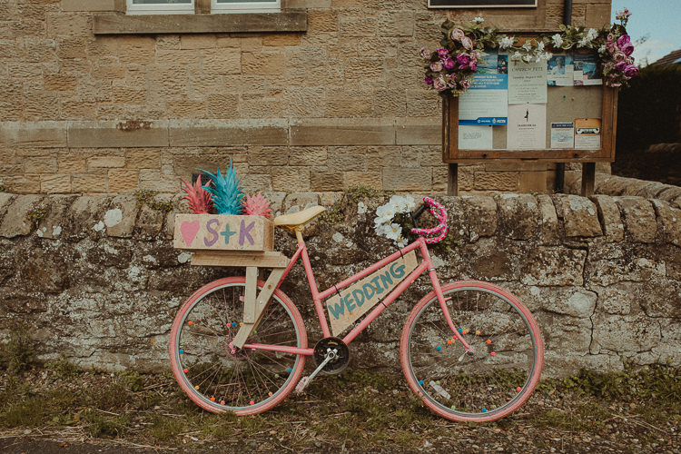 Pink Bike Bicycle Decor Sign Pineapples Eclectic Kitsch Retro Fete Wedding http://www.belleartphotography.com/