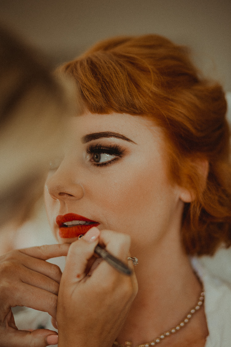 Vintage Make Up Bride Bridal Beauty Eclectic Kitsch Retro Fete Wedding http://www.belleartphotography.com/