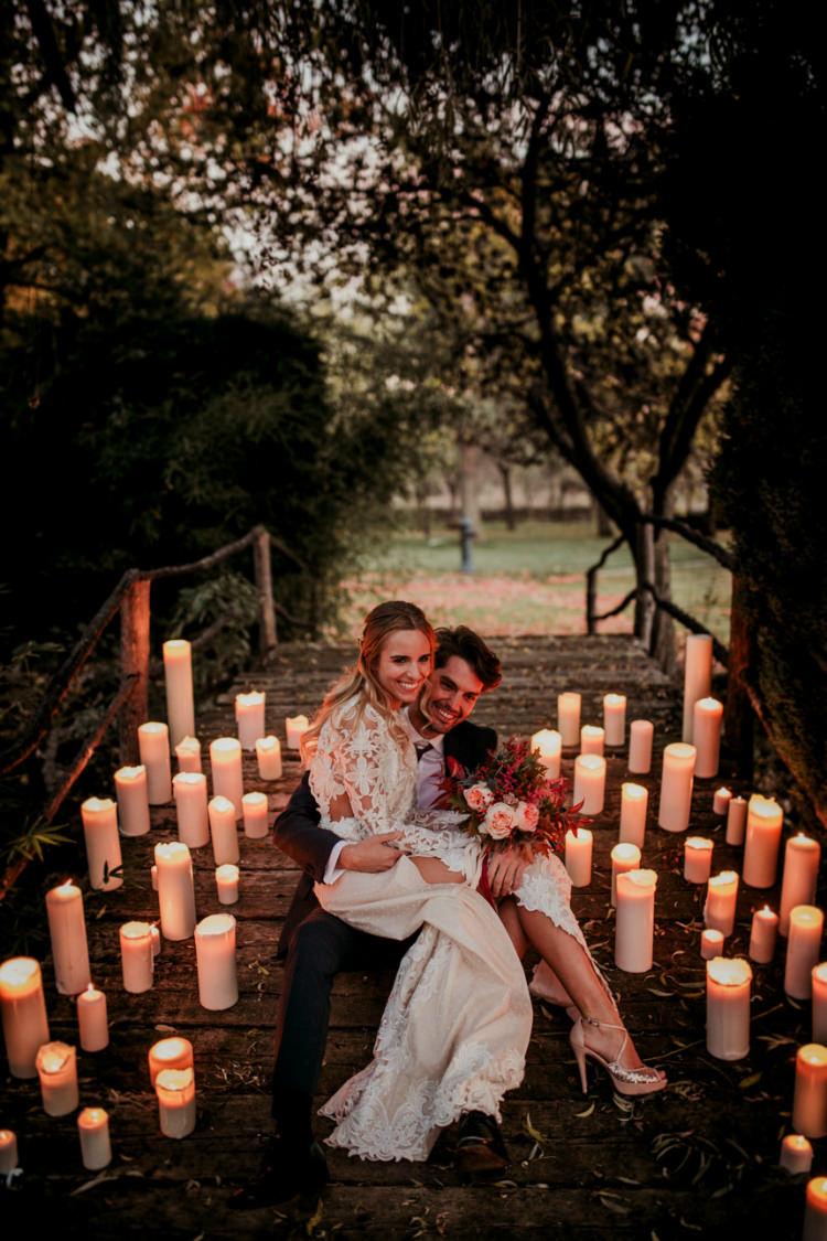Autumn Inspiration Candles Outdoor Bride Bridal Groom http://www.nataliaibarra.com/