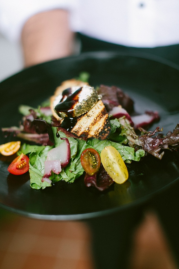 Plate Food Salad Starter Wedding Breakfast Meal Modern Elegance Marble Greenery Gold Wedding Ideas http://www.jettwalkerphotography.com/