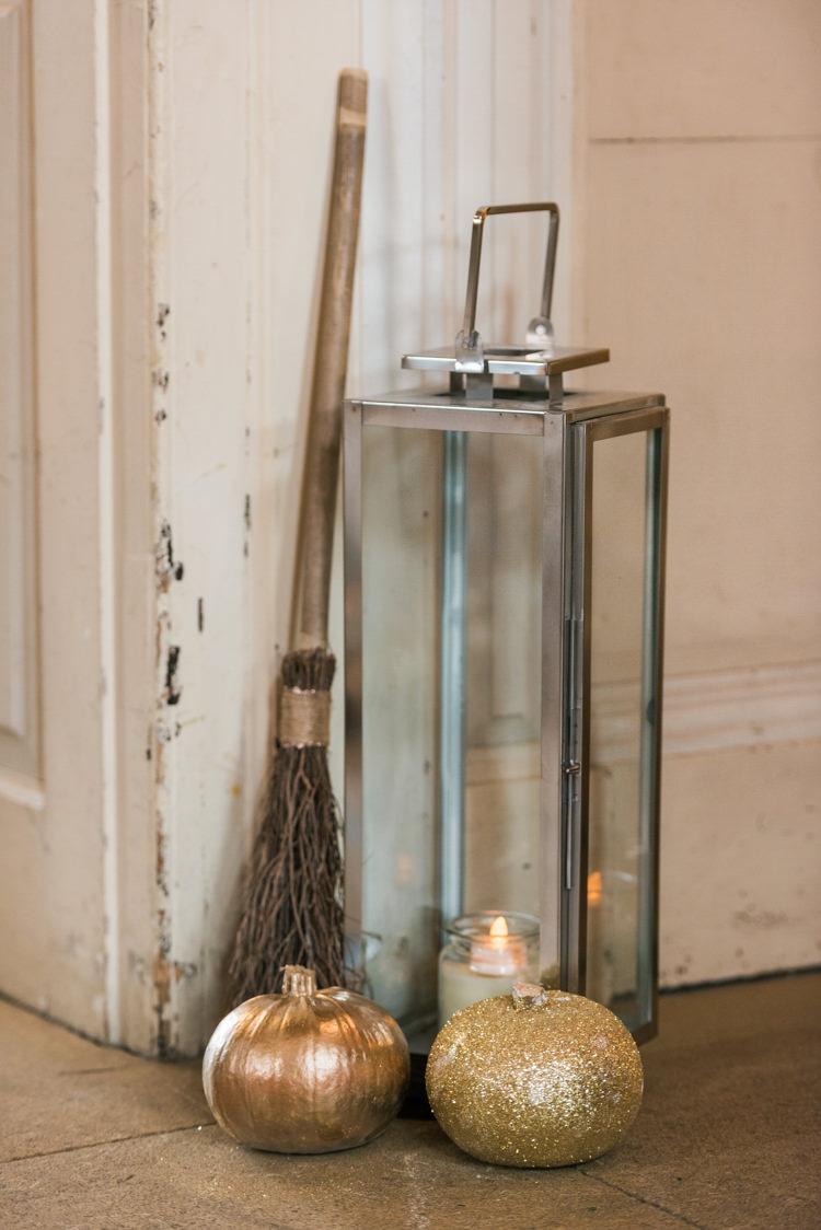 Autumn Inspiration Storm Lantern Broomstick Candles http://www.oliviajohnstonweddings.co.uk/