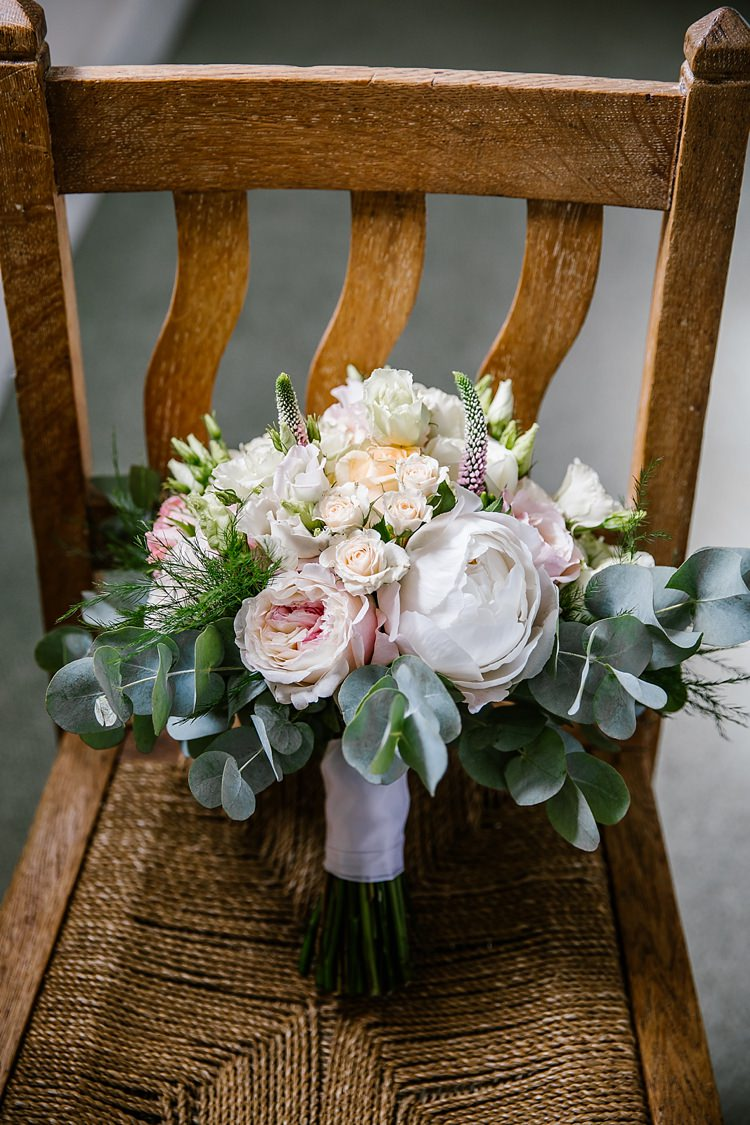 Bouquet Flowers Bride Bridal Peony Peonies Rose White Pink Graceful Country Cottage Garden Wedding https://katherineashdown.co.uk/