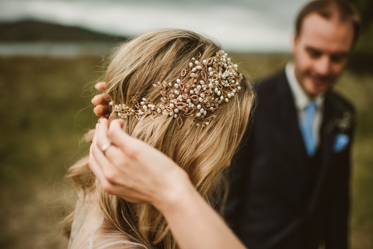 Hair Accessory Bride Bridal Style Homely Ethereal Intimate Country House Wedding https://www.photosligo.com/